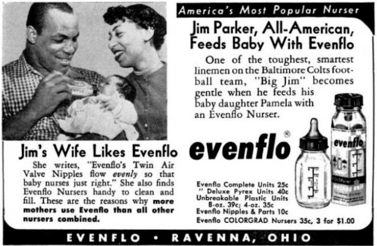 Evenflo baby bottles with Jim Parker - 1960s