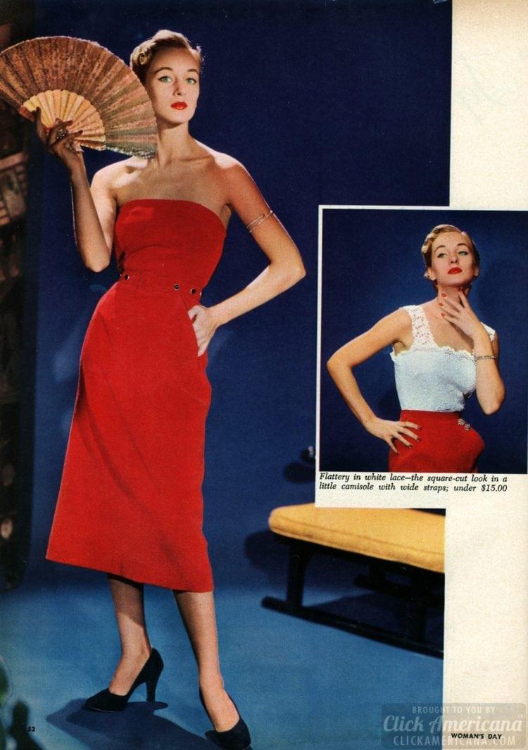 '50s eveningwear for women: Separates