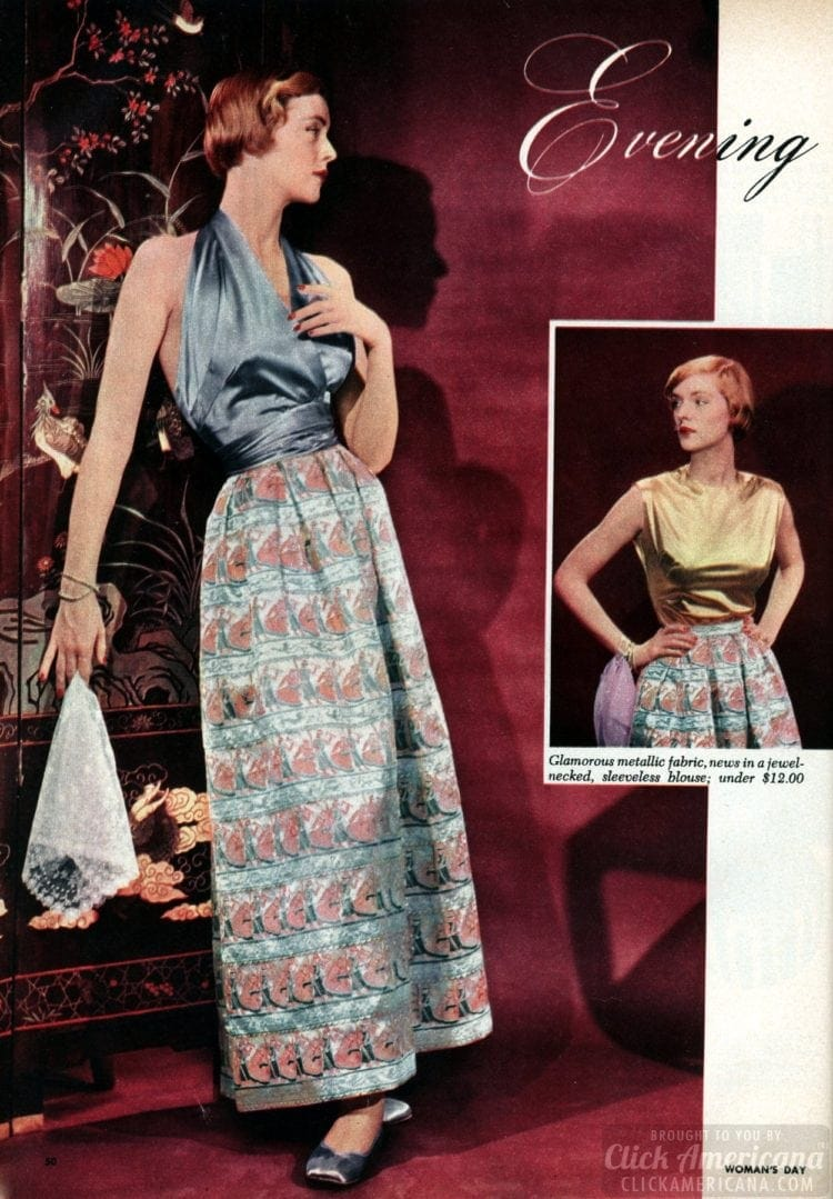 '50s eveningwear - Skirts and tops for women from 1950