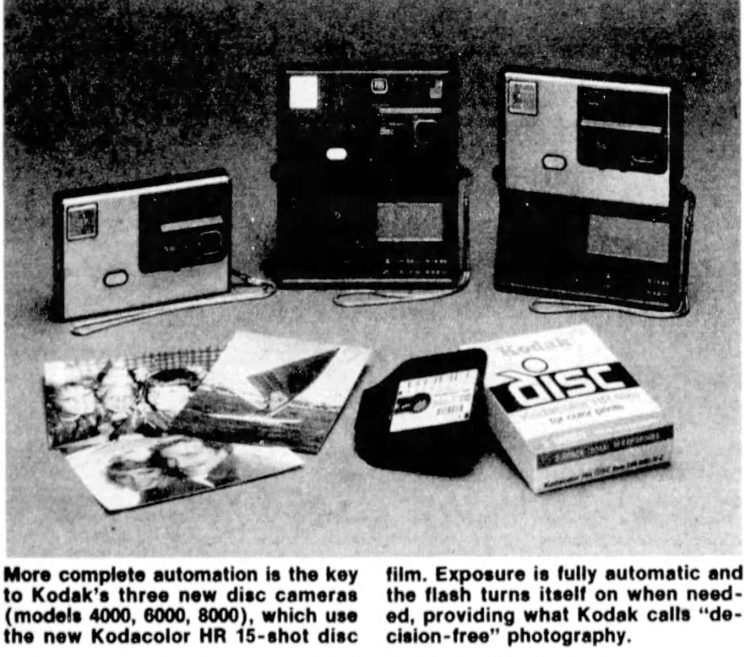 Example Disc cameras from 1982