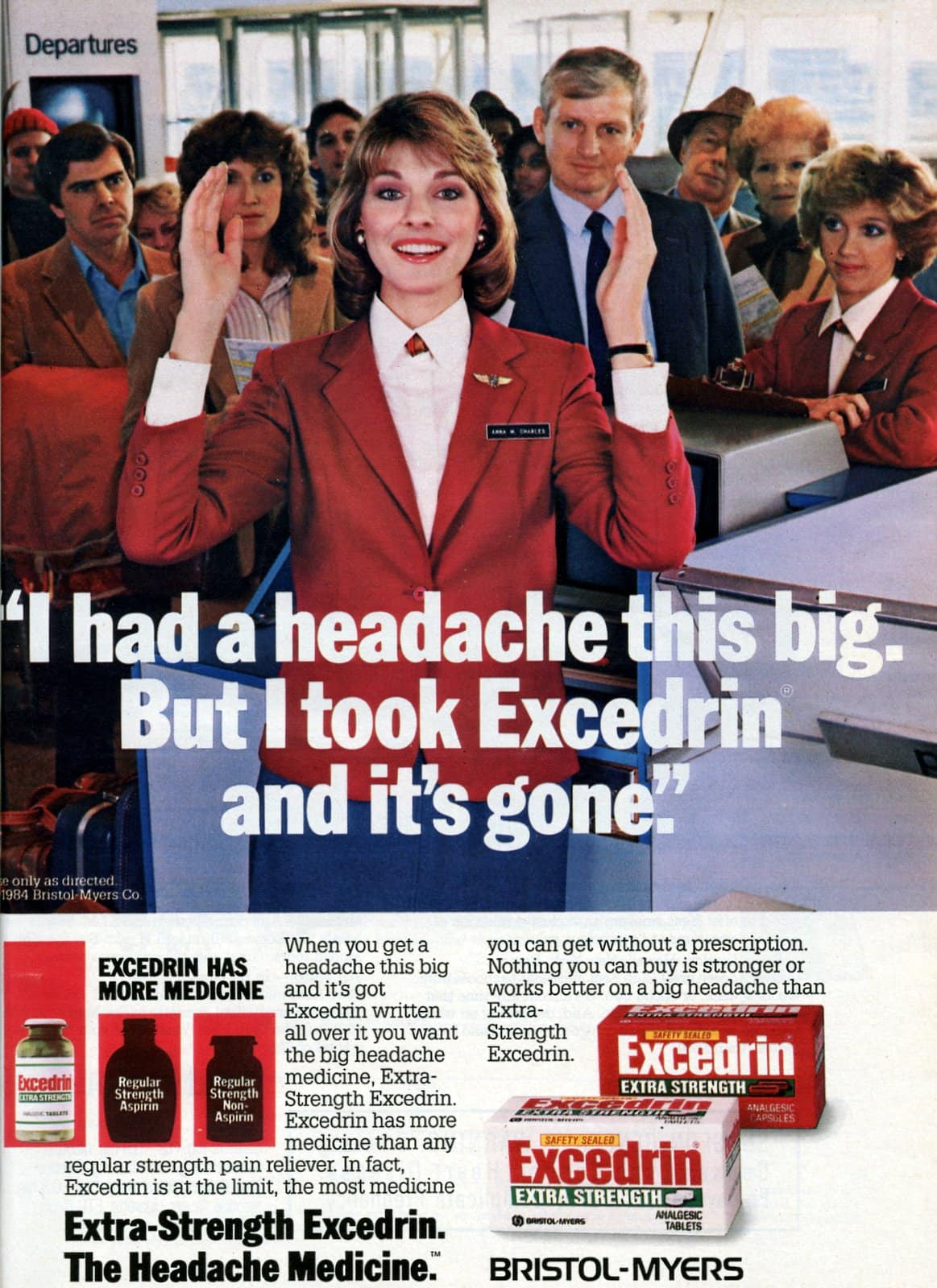 Excedrin I had a headache THIS big (1985)