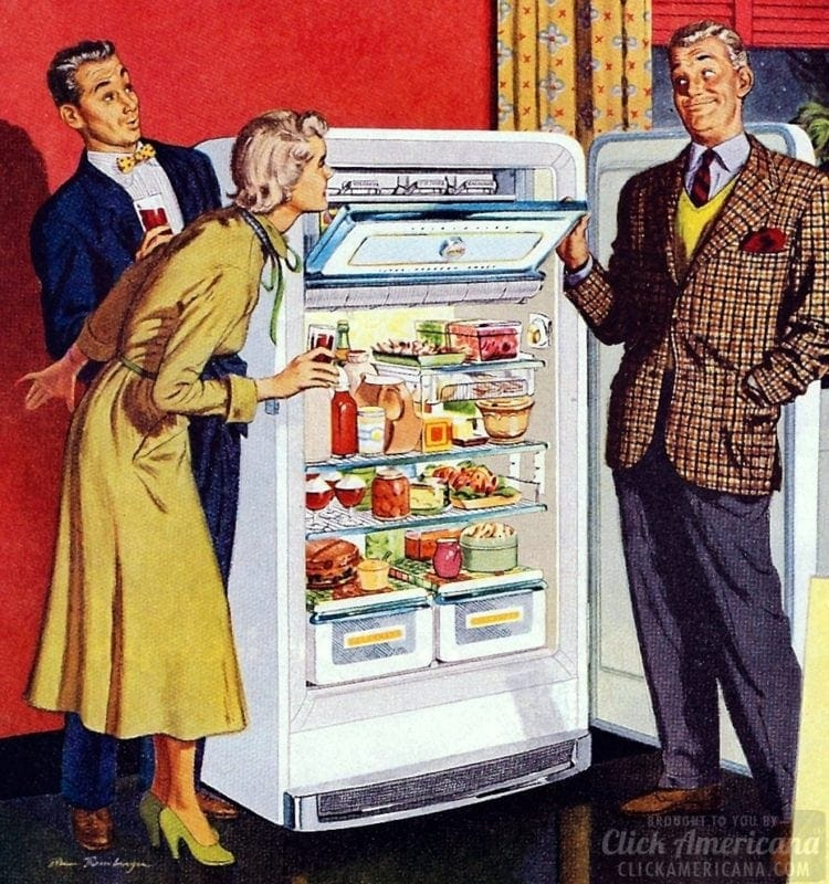 Exciting new refrigerator in 1950
