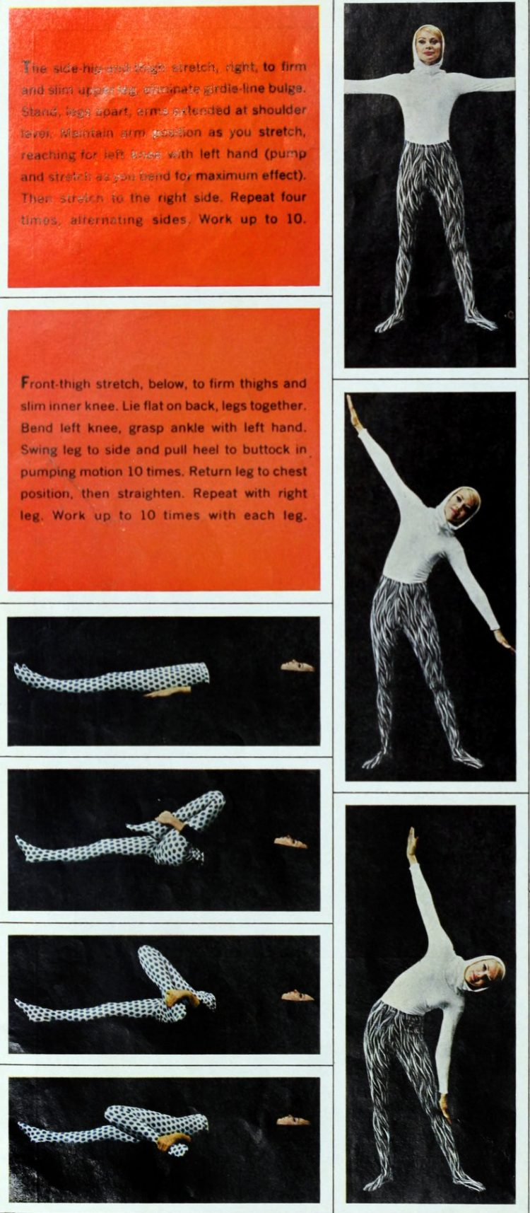 Exercise advice from the 60s to help you get beautiful legs (2)