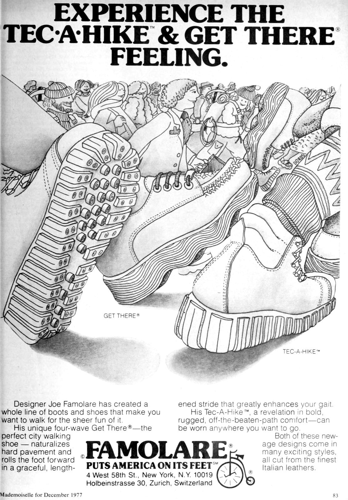 Experience the Tec-A-Hike and Get There feeling with Famolare shoes (1977)