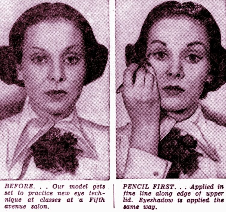 Eye makeup makeover tips from 1950