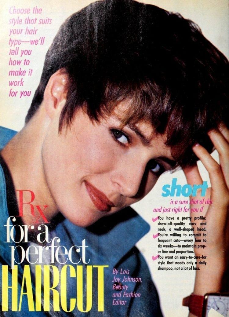 Short haircut '80s style