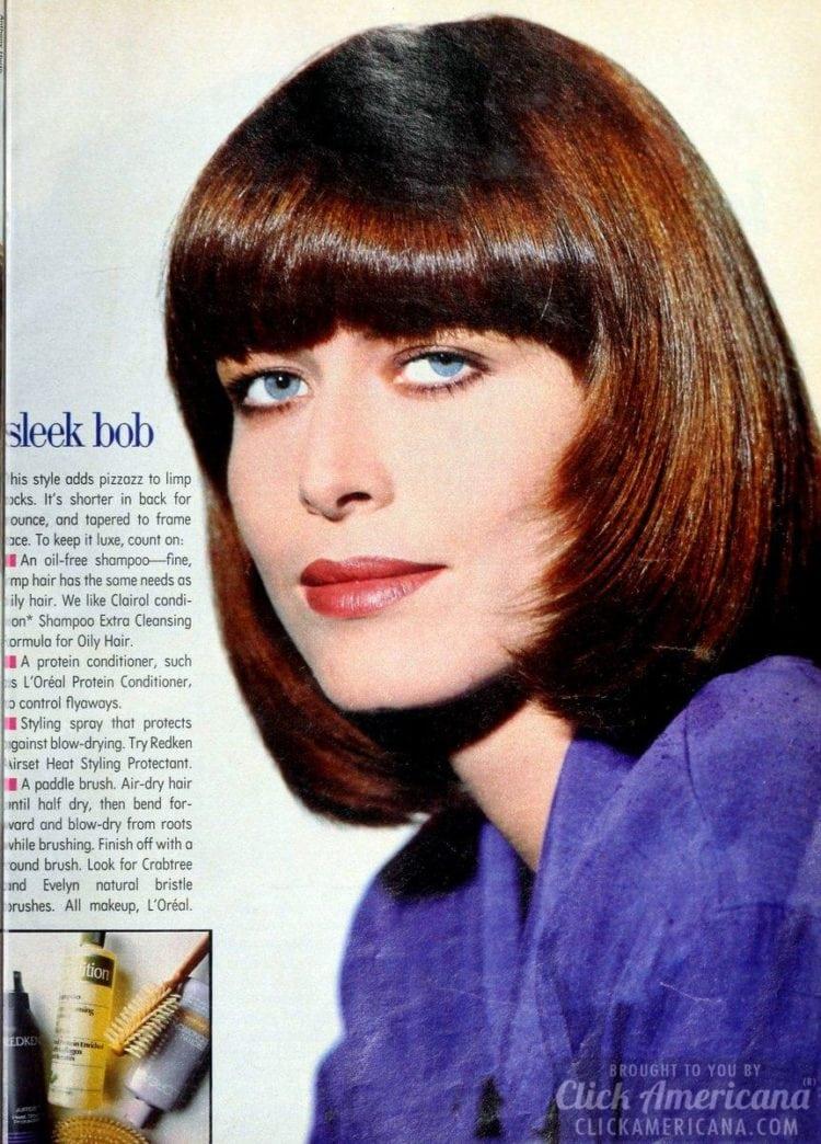 Sleek bob haircut - Vintage hairstyle