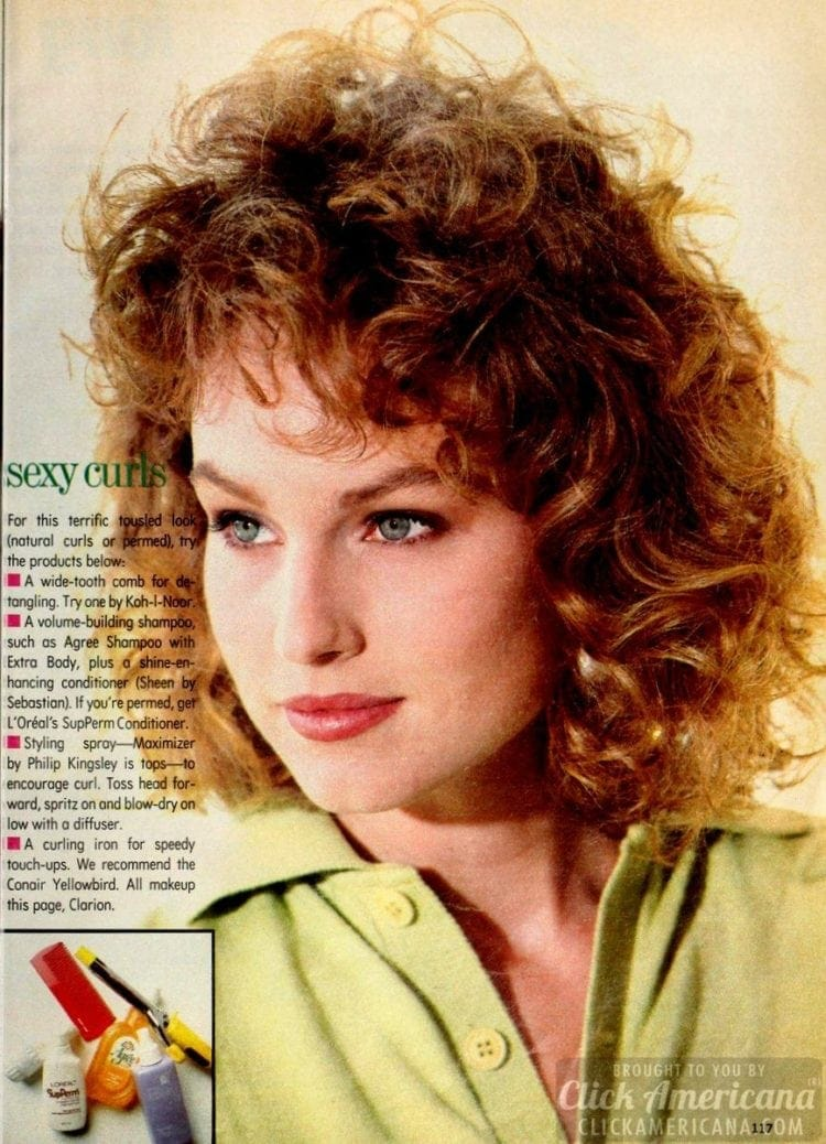 Sexy curls from the eighties
