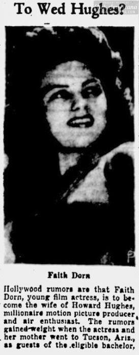 Faith Dorn and Howard Hughes - Nov 21 1941
