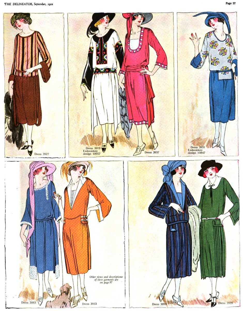 Fall fashions for women from 1922 (1)