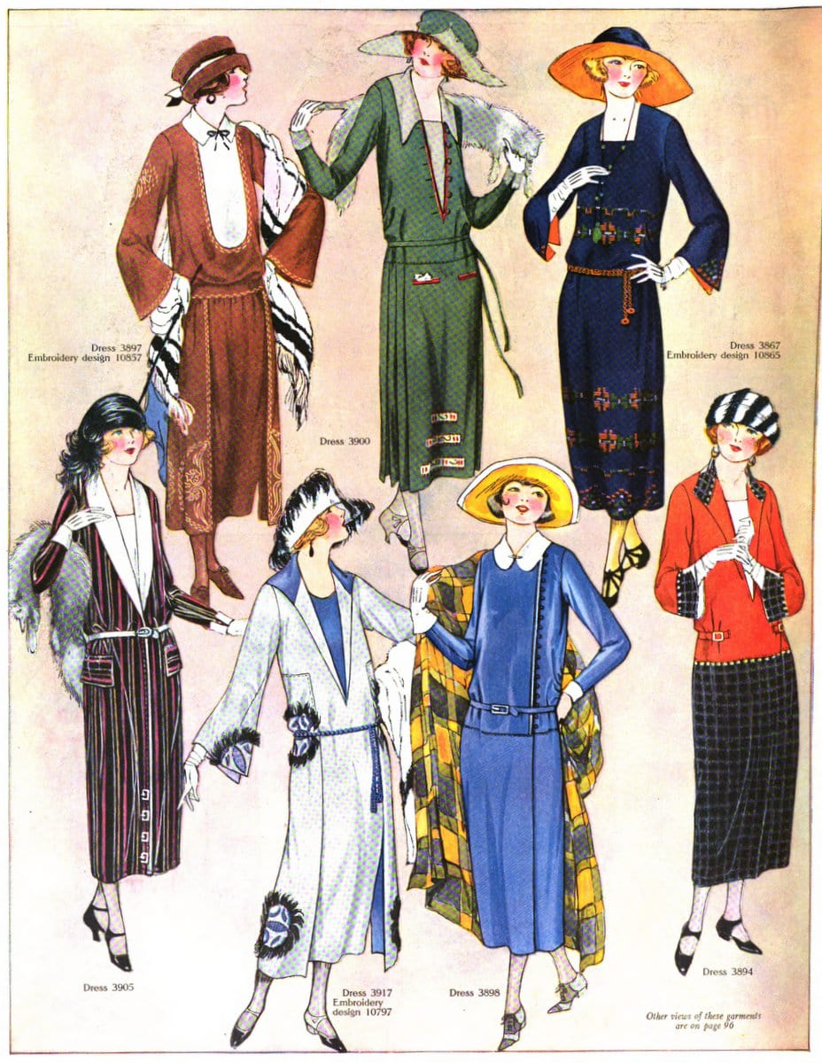 Fall fashions for women from 1922 (2)