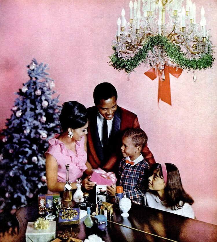 Family at Christmas in 1964