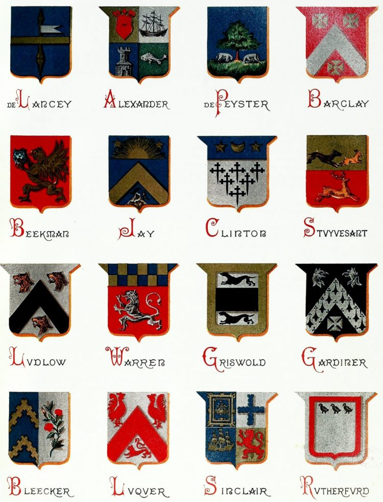 Family last names - Crests from history