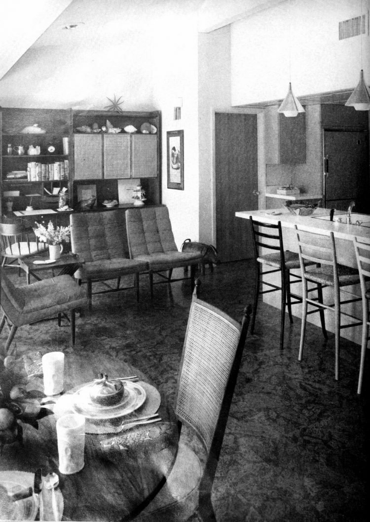 Family room breakfast bar - Vintage sixties Scholz Mark 60 house