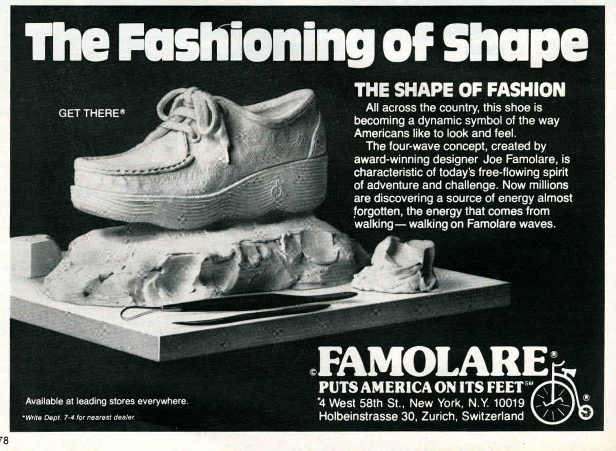 Famolare shoes The shape of fashion (1978)