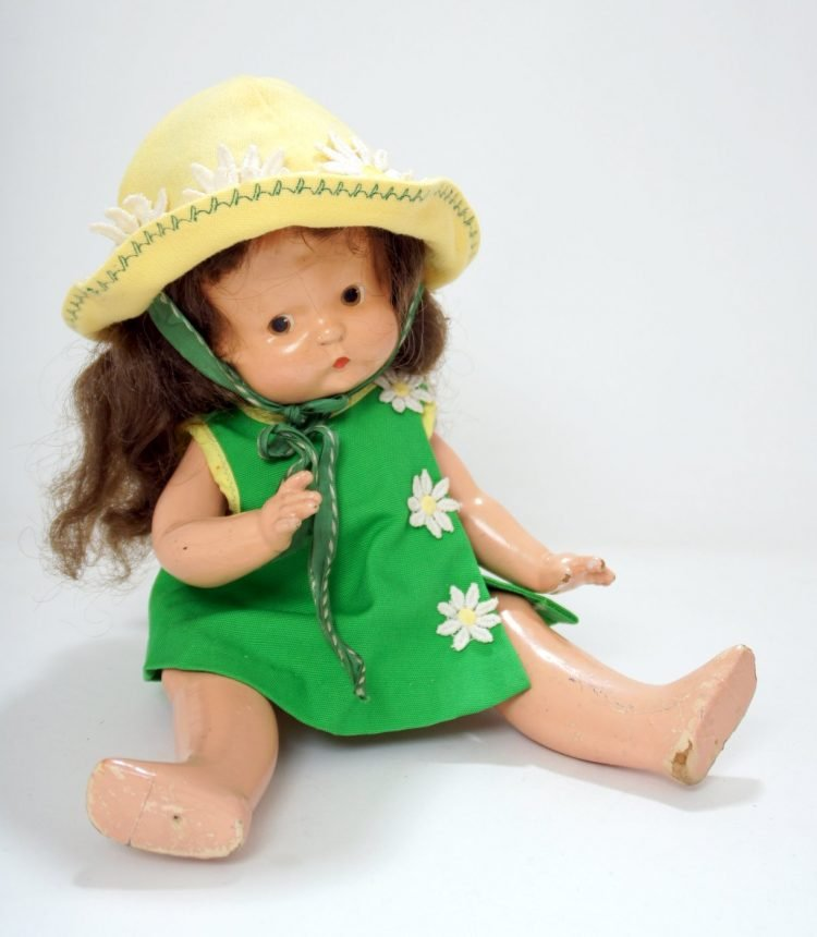 Antique toys from the Great Depression era - handmade clothes