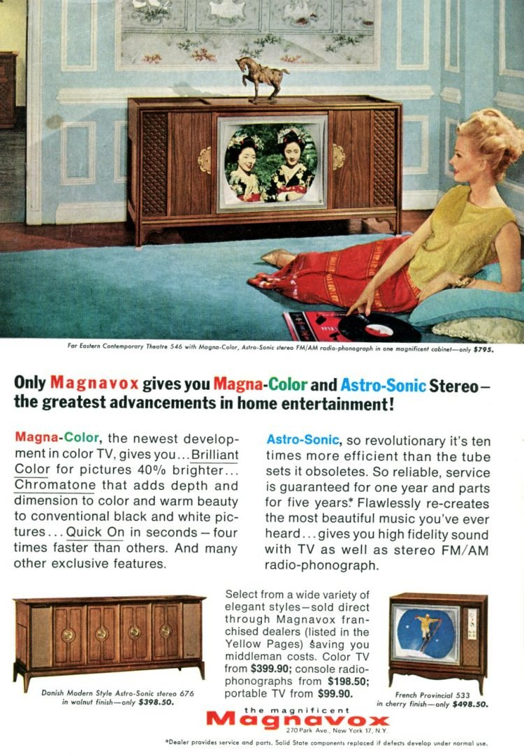 Fancy color TV set from 1965