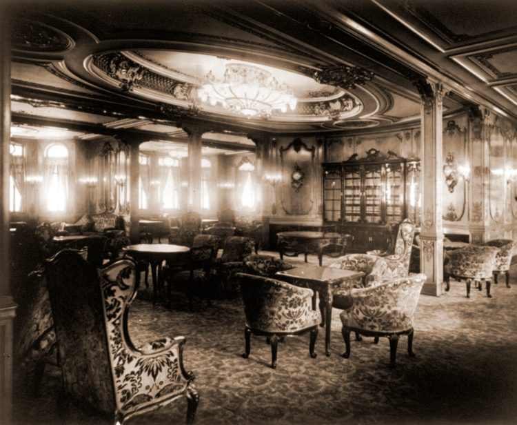 Fancy room on Titanic or Olympic