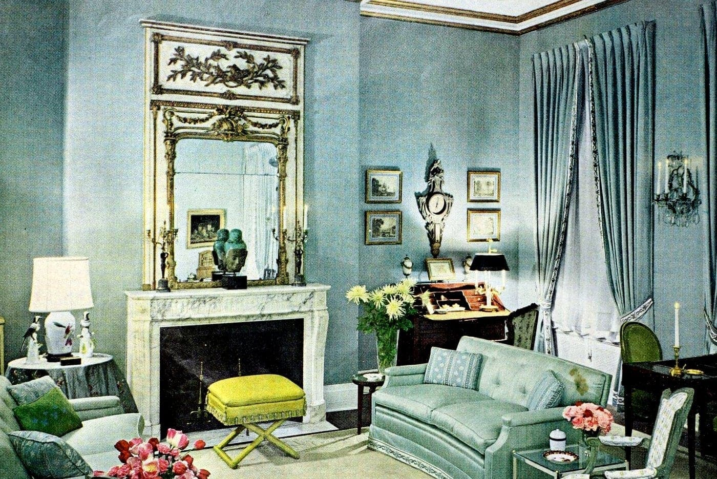 Fantastic old-fashioned fireplaces
