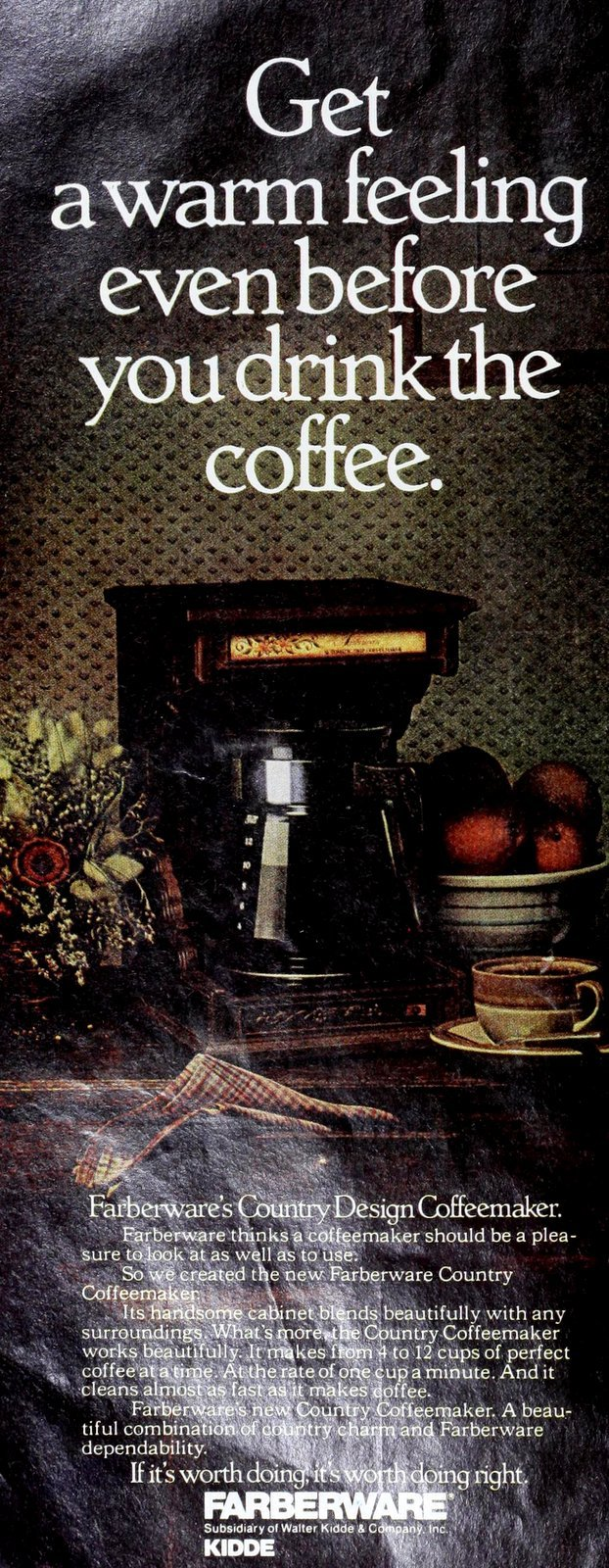 Farberware coffee maker - Country design (1977)