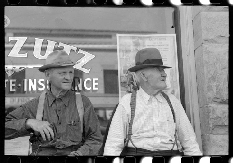 Farmer in town for the Fourth of July celebration 1941