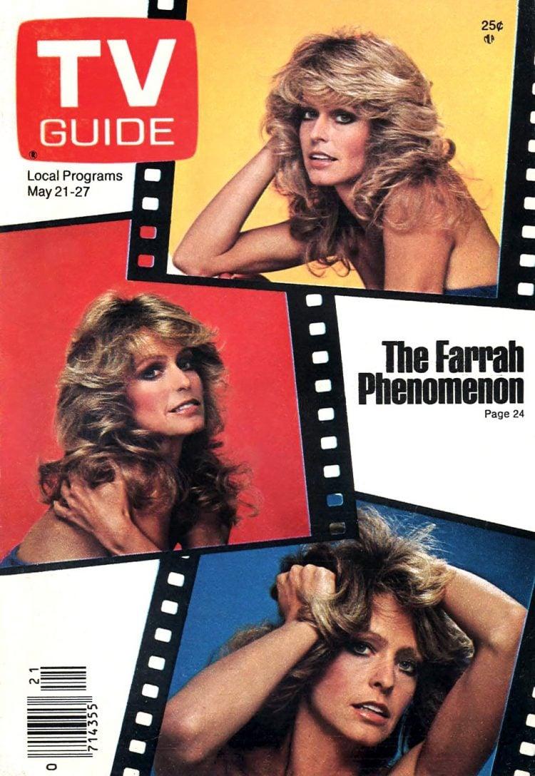 Farrah Fawcett on TV Guide cover - 1977