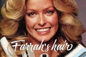 Farrah Fawcett's hairstyle from the 1970s