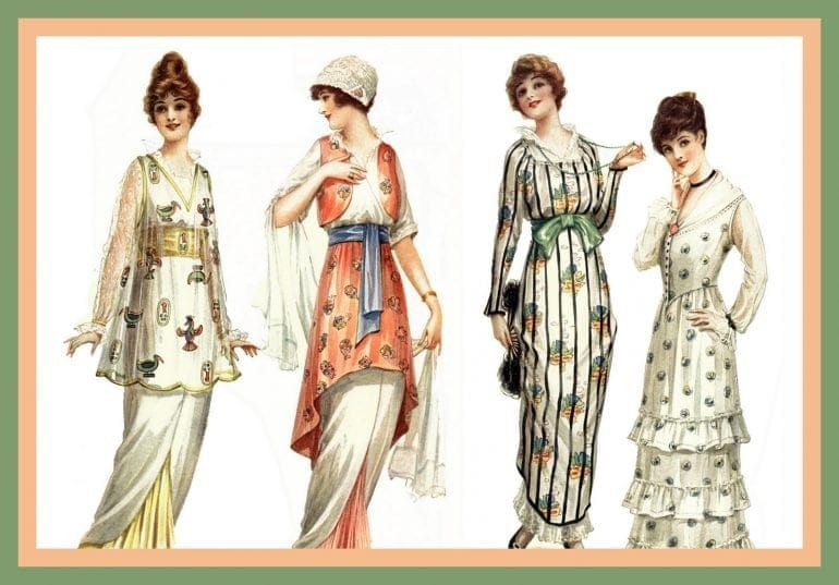 Fashion from 1914 Dresses and frocks that the most stylish women were wearing