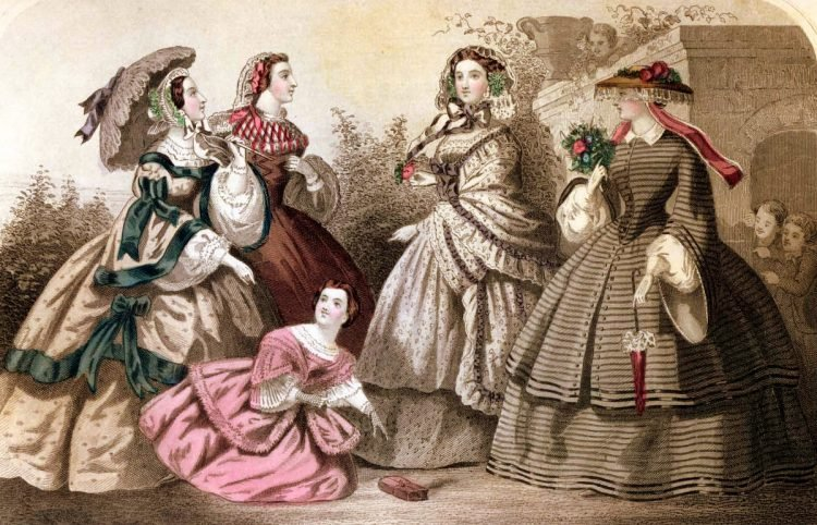Fashion history: Carriage dress styles from April 1859