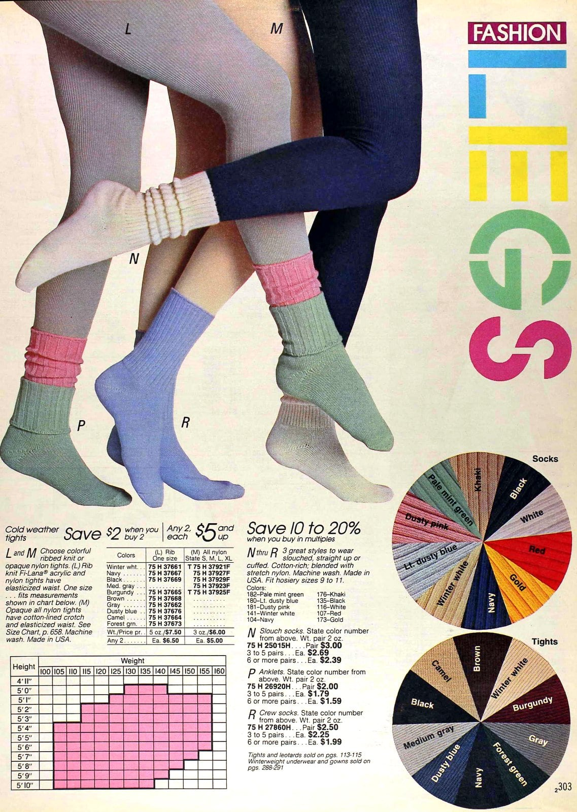 Fashion legs for her - doubled socks and socks over tights (1988)