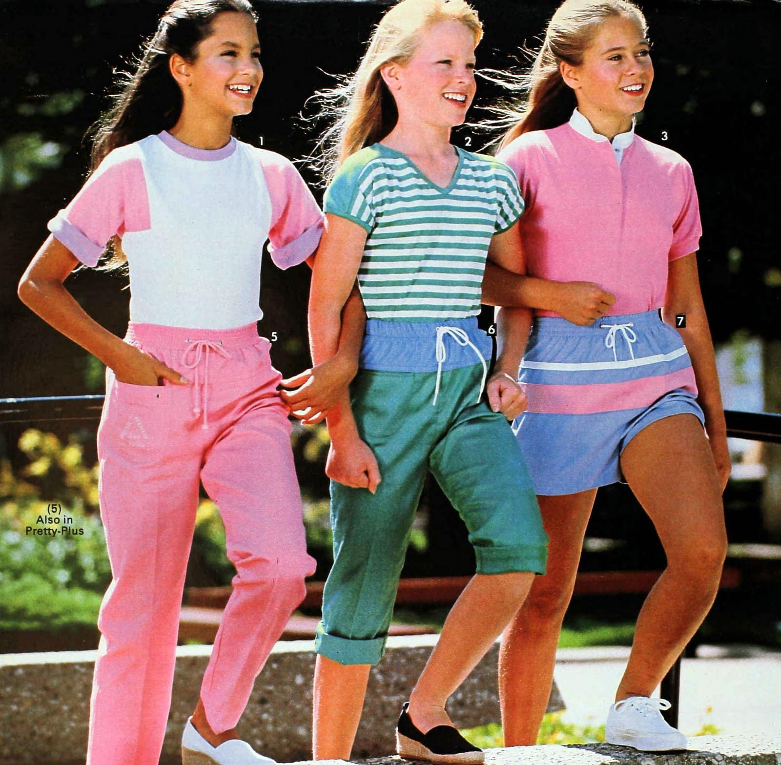 Fashionable activewear for girls (1983)