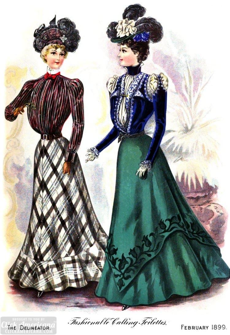 Fashionable women of 1899