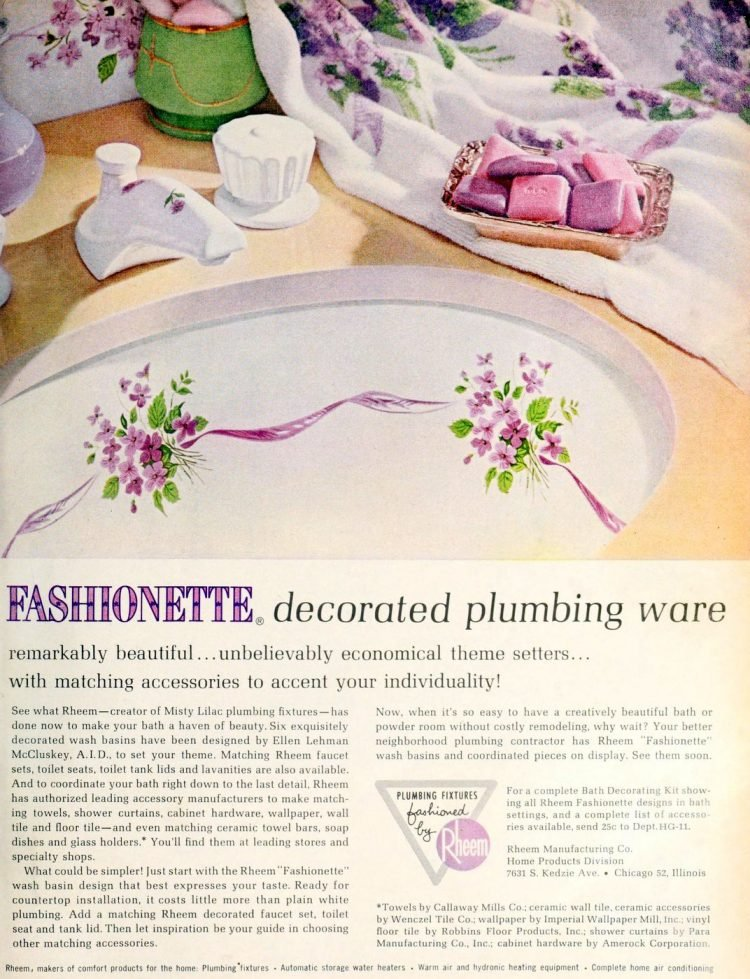 Fashionette decorated plumbing ware (1963)