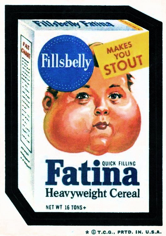 Fatina cereal - vintage Wacky Packages (1974)