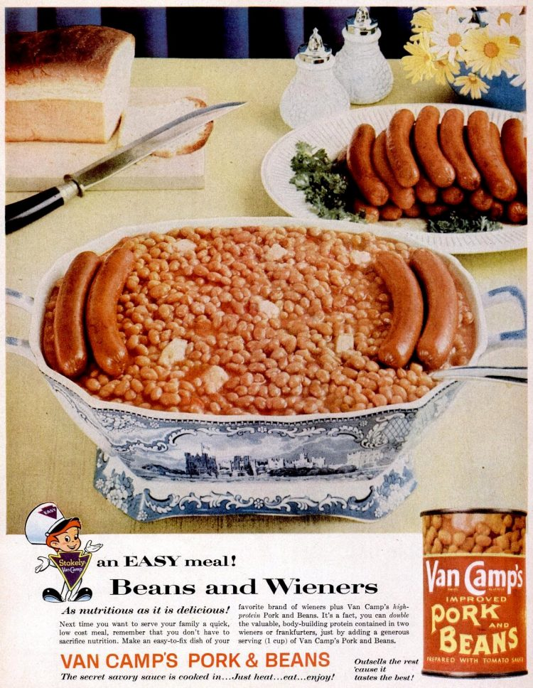 Feb 2, 1959 beans hot dogs
