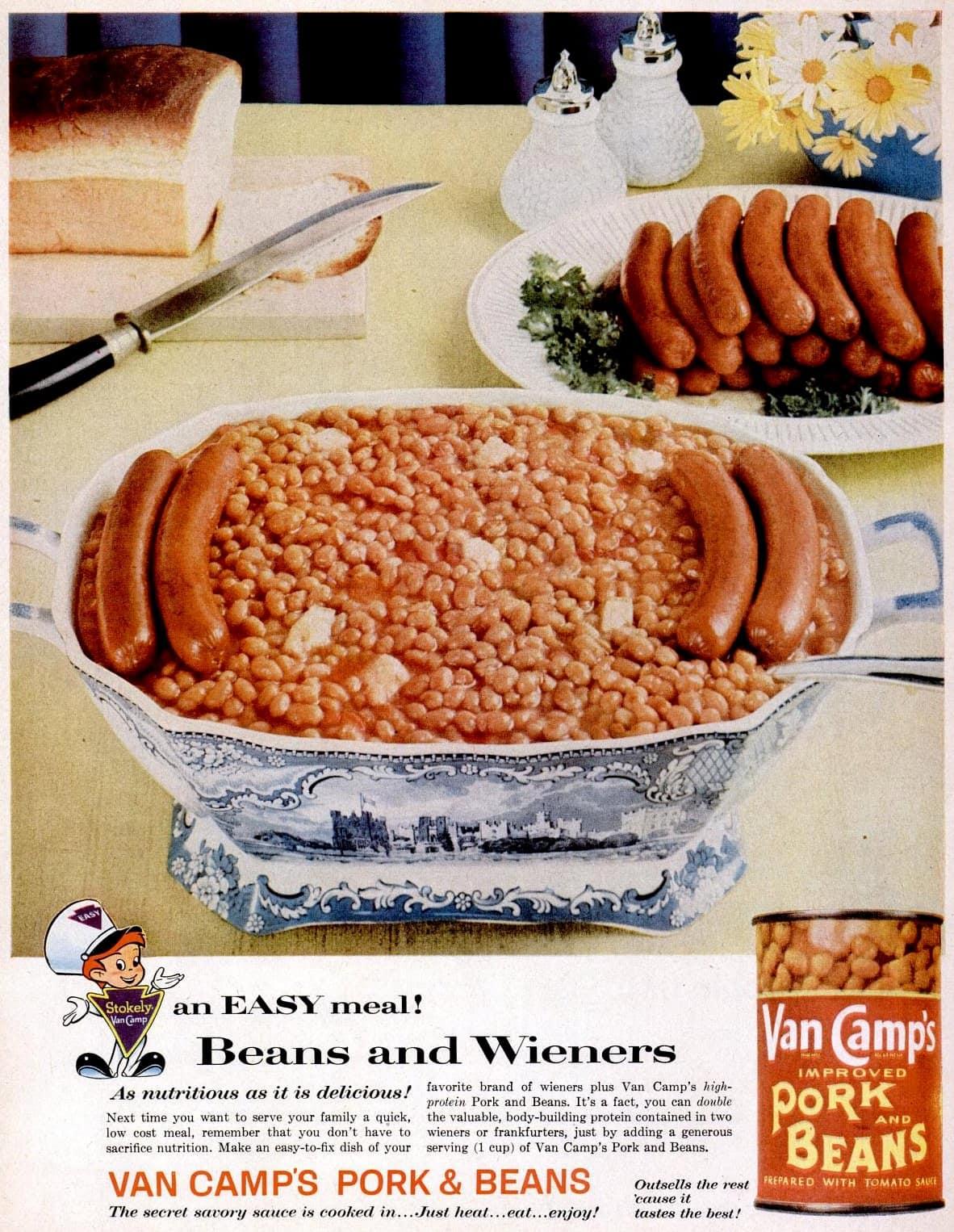 Feb 2, 1959 beans hot dogs