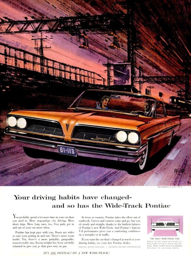 Feb 24, 1961 Wide Track Pontiac cars