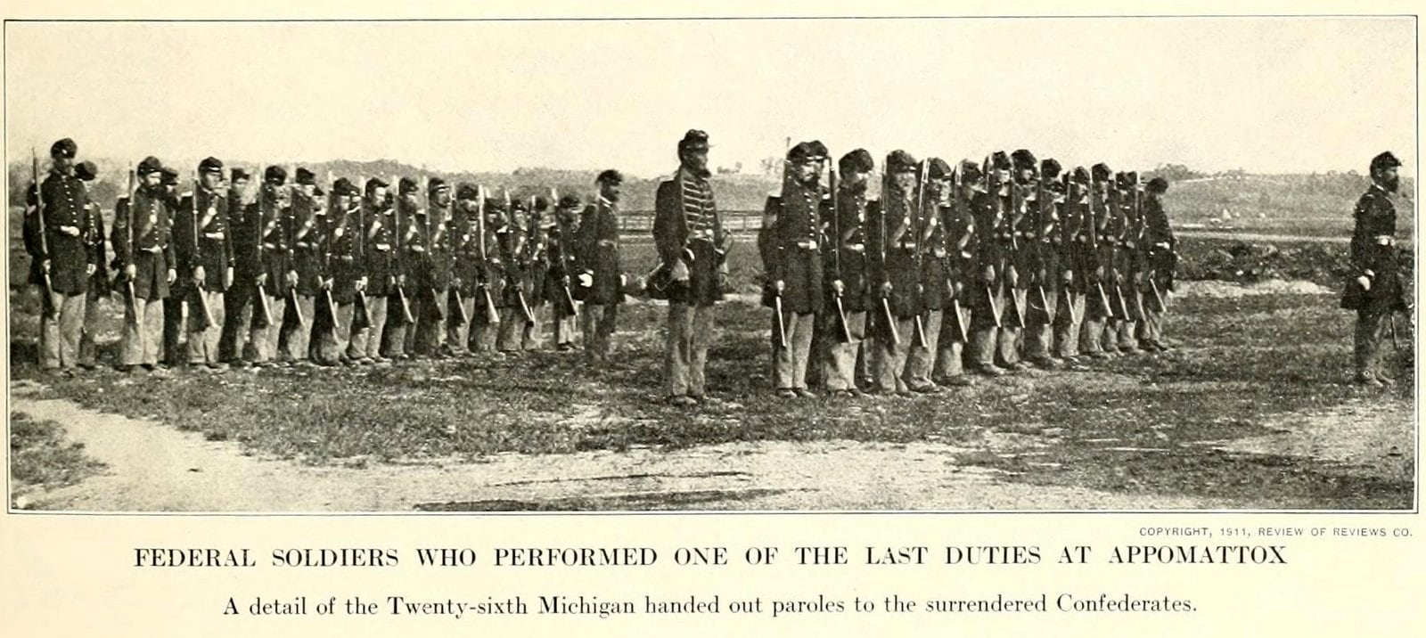Federal soldiers who performed one of the last duties at Appomattox