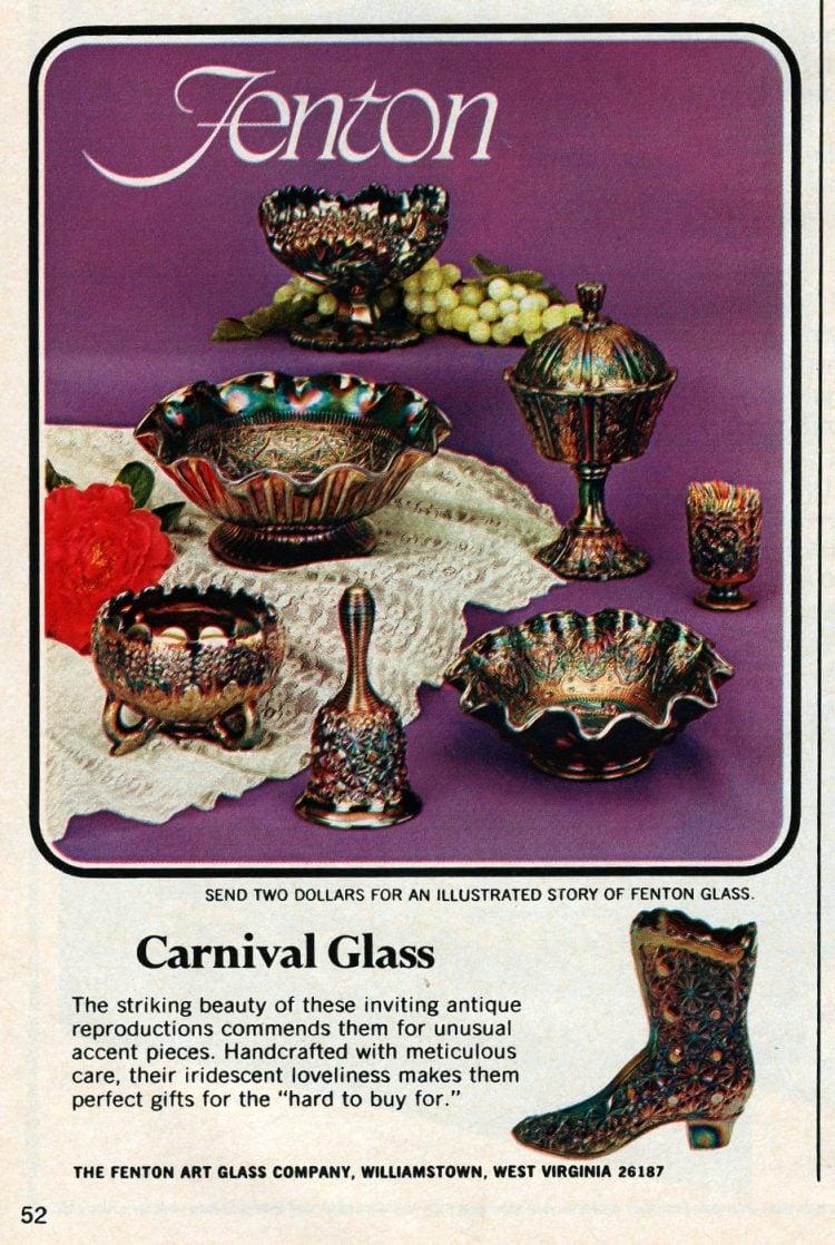 Fenton carnival glass (1971)