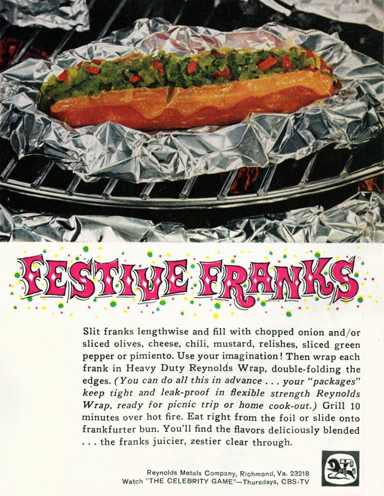 Festive Franks from 1965