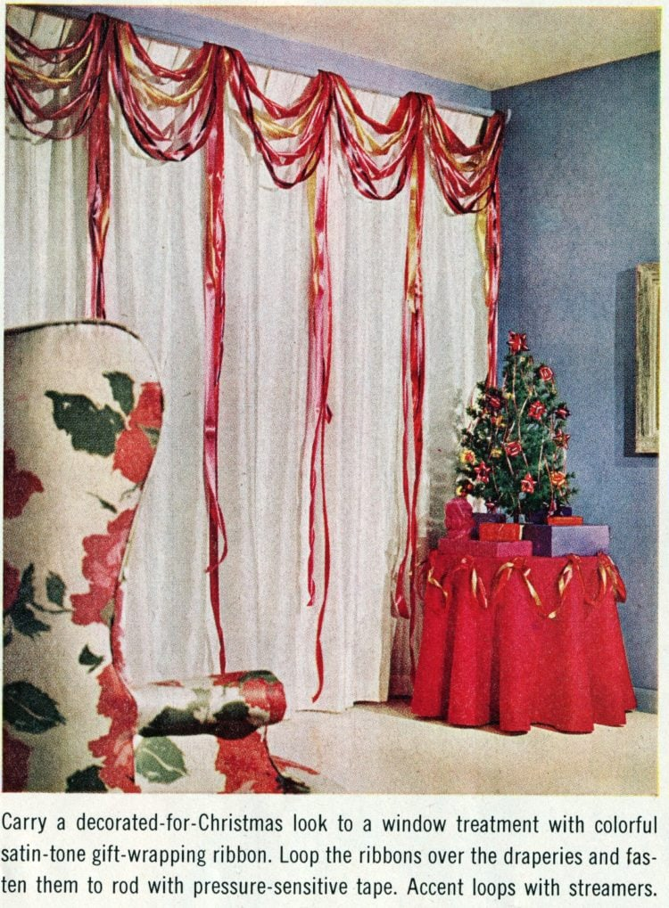 Festive ribbons for your curtains