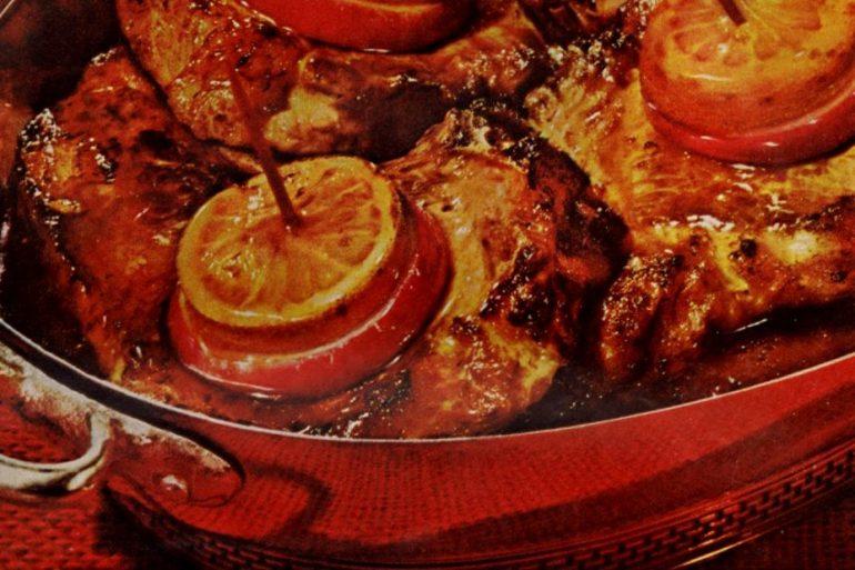 Fiesta Pork Chops-recipes-dec-1960