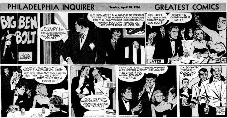 Fifties comic strip Big Ben Bolt - The Philadelphia Inquirer - Apr 18 1954