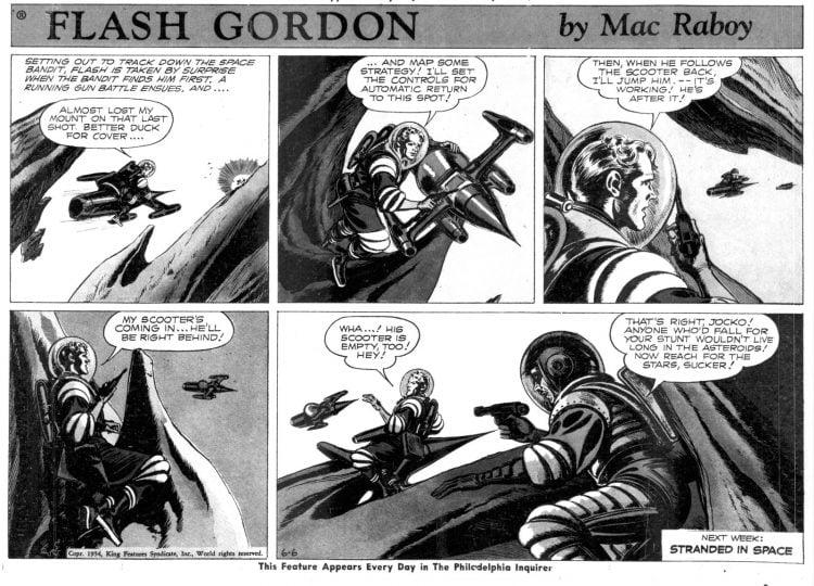 Fifties comic strip Flash Gordon by Mac Raboy - The Philadelphia Inquirer - Jun 6 1954