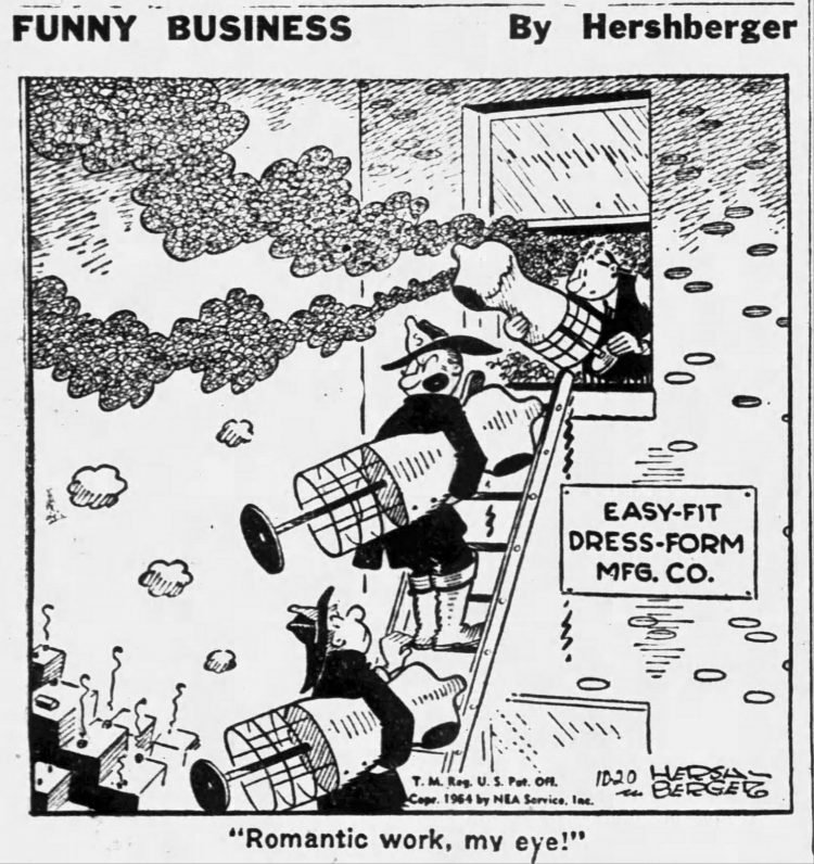 Fifties comic strip Funny Business by Hershberger - The Ogden Standard Examiner - Oct 18 1954