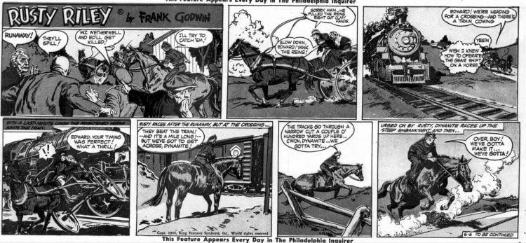 Fifties comic strip Rusty Riley - The Philadelphia Inquirer - Jun 6 1954