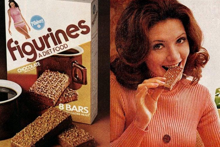 Figurines Those beloved crispy, crunchy diet bars of the 1970s
