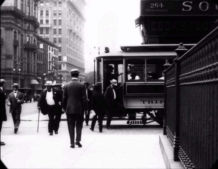 Trolley car near 264 Fifth Avenue