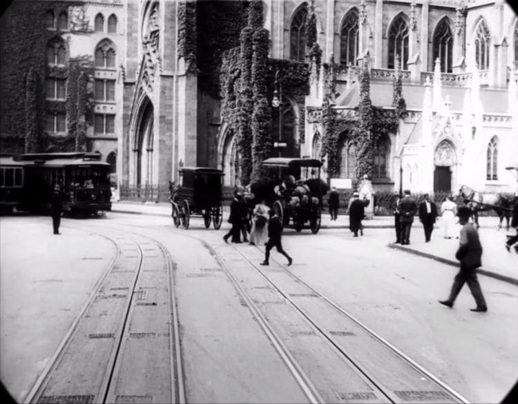 At Grace Church - New York in 1911