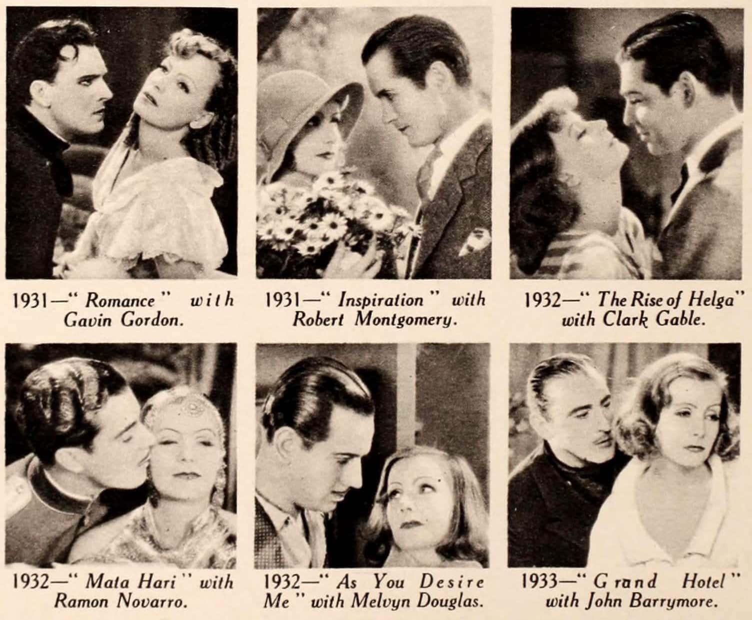 Films of Greta Garbo as of 1934